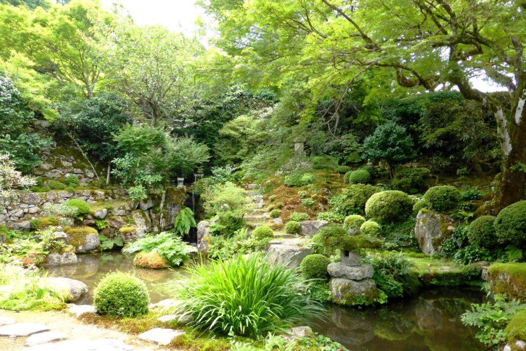 京都市左京区大原にある実光院の契心園(夏・8月)