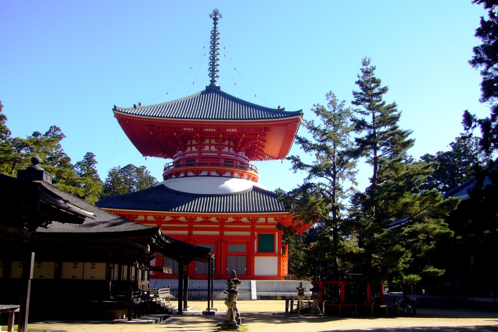 和歌山県伊都郡高野町にある金剛峯寺の根本大塔