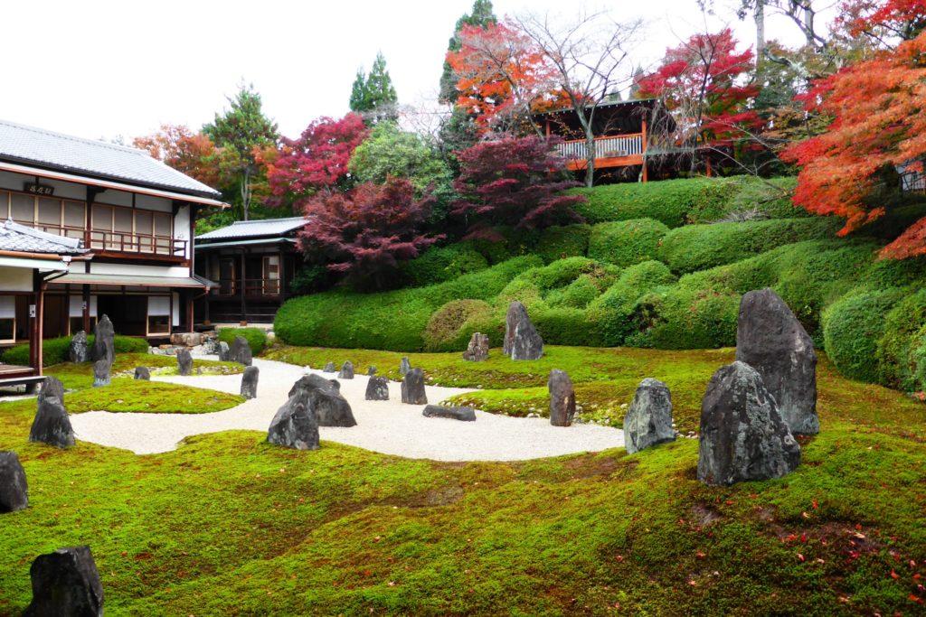 京都市東山区にある光明院の波心庭の紅葉(秋・11月)