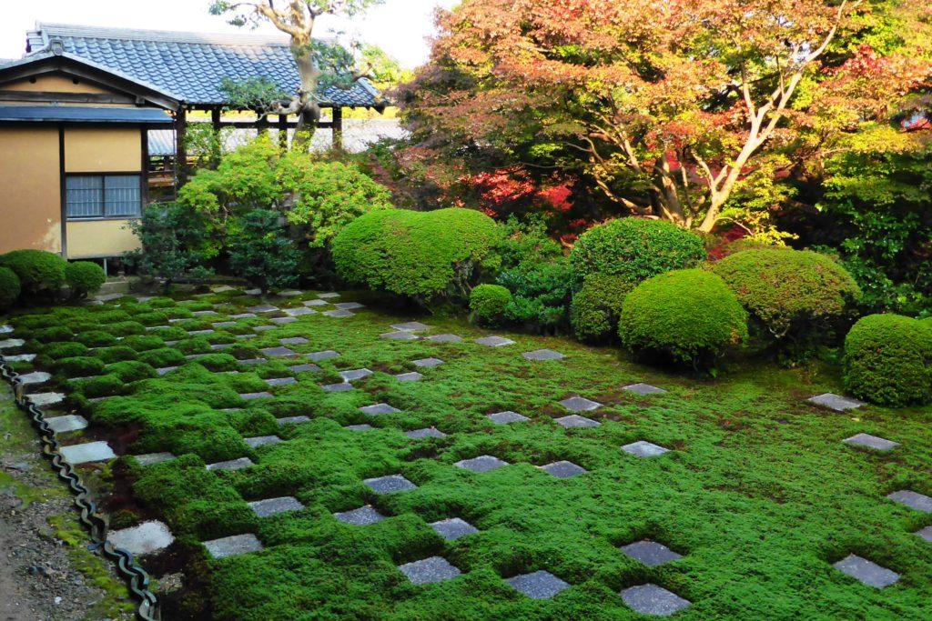 京都市東山区にある東福寺の北庭(秋・11月)