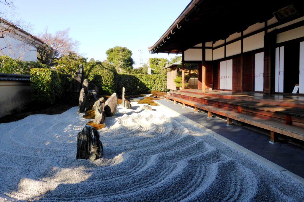 京都市北区の瑞峯院の独坐庭(冬・2月)