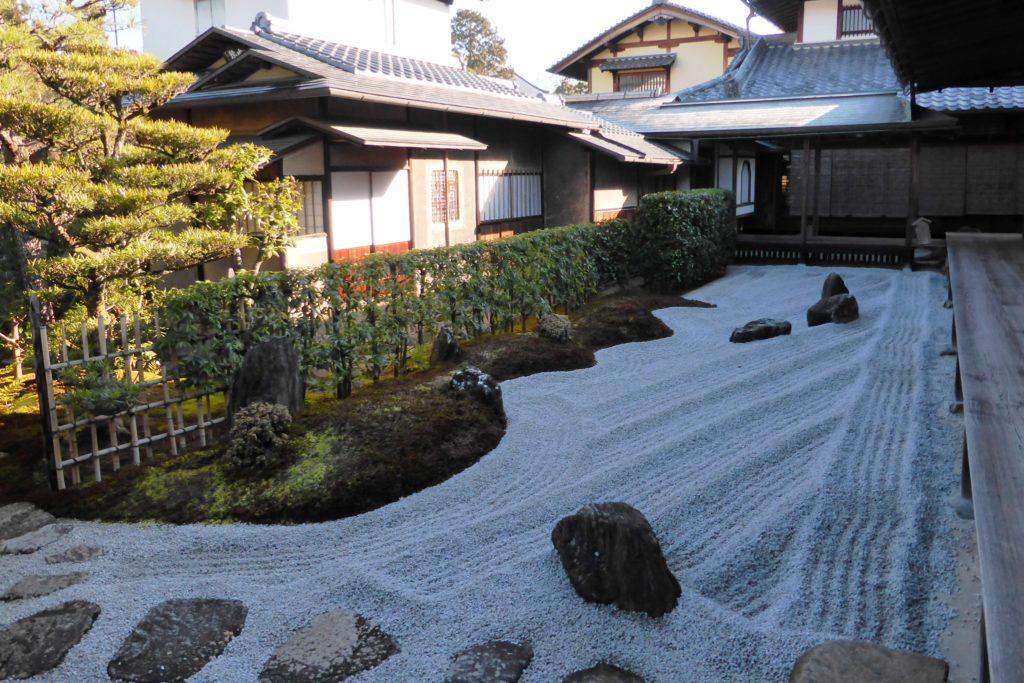 京都市北区の瑞峯院の閑眠庭(冬・2月)