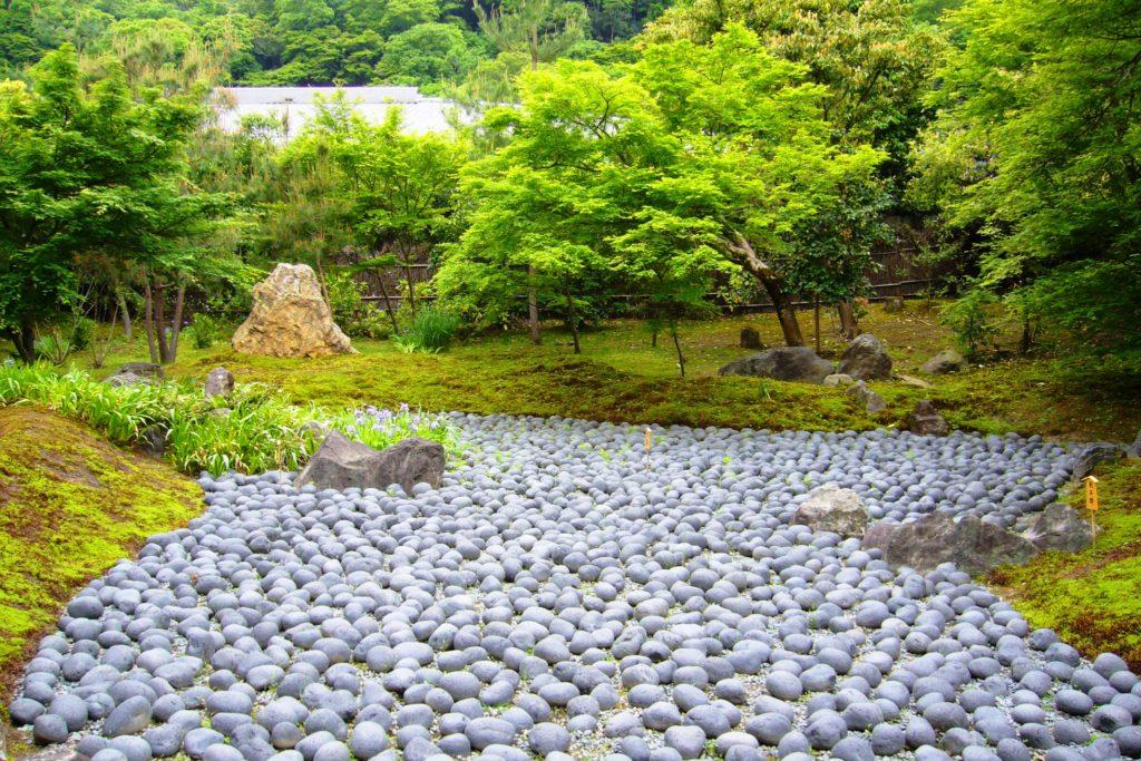 京都市右京区嵯峨(嵐山)にある宝厳院の獅子吼の庭(春・5月)