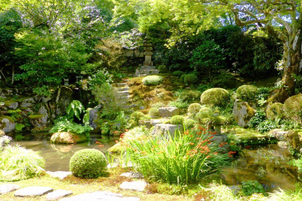 京都市左京区大原にある実光院の契心園(夏・7月)