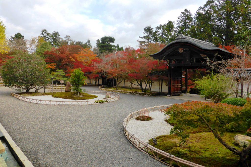 京都市右京区にある二尊院の境内と紅葉(秋・11月)