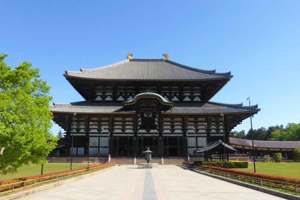 奈良市にある東大寺の大仏殿(春・5月)